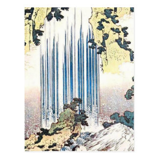Japanese Waterfall Illustration Post Cards