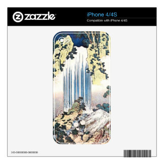 Japanese Waterfall Illustration Skins For The iPhone 4