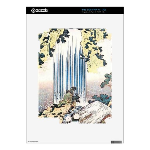 Japanese Waterfall Illustration Skin For The iPad 2
