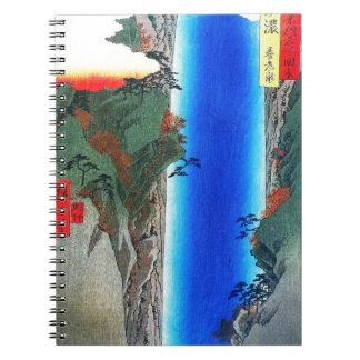 Japanese Waterfall Spiral Notebook