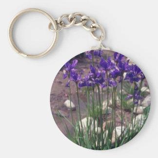 Japanese Waterlily, (Iris) flowers Keychain