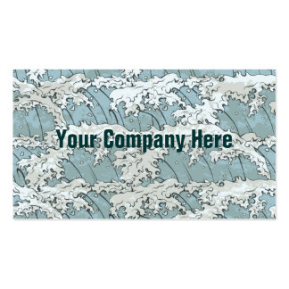 Japanese wave company business card