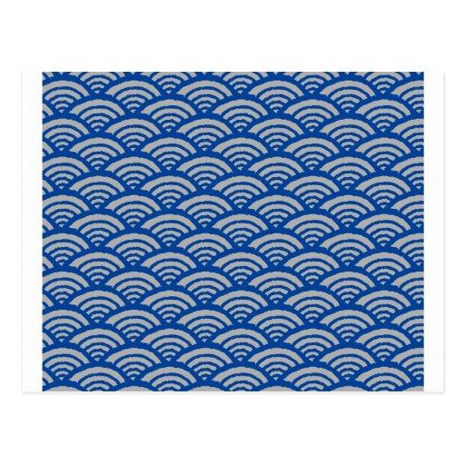 Japanese Wave Pattern PostcardJapanese Wave Pattern