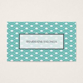 Japanese Wave Pattern Seigaiha Business Card