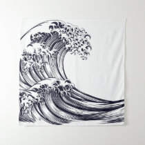 JAPANESE WAVE Tapestry