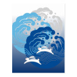 Japanese Wave & White Rabbit Post Cards