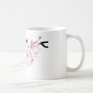 Japanese Weeping Cherry Blossom Fractal Art Coffee Mug
