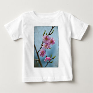 Japanese Weeping Cherry Blossoms with Textures Baby T-Shirt