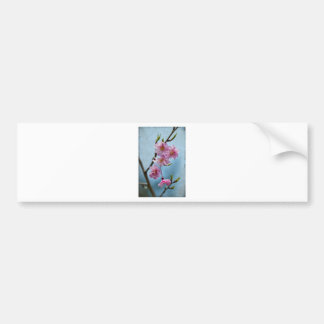 Japanese Weeping Cherry Blossoms with Textures Car Bumper Sticker