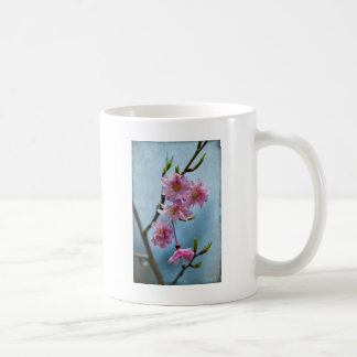 Japanese Weeping Cherry Blossoms with Textures Coffee Mug