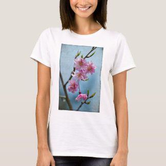 Japanese Weeping Cherry Blossoms with Textures T-Shirt