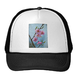 Japanese Weeping Cherry Blossoms with Textures Trucker Hat