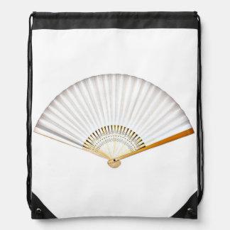 Japanese White Fan Drawstring Backpack