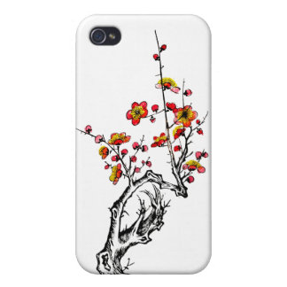 Japanese Wild Blossoms 04 iPhone 4 Covers