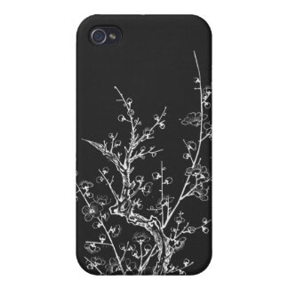 Japanese Wild Blossoms Inverted Black iPhone 4/4S Covers