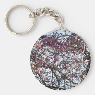Japanese Willow Basic Round Button Keychain