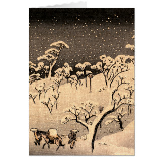 Japanese Winterscape no.1 Card