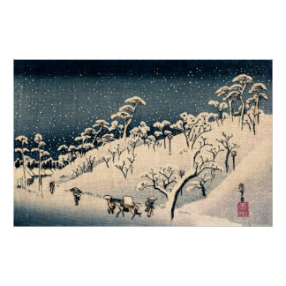 Japanese Winterscape no.3 Poster