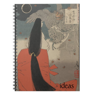 Japanese Woman and Wizard at Mount Manno Notebook