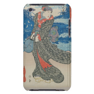 Japanese woman by the sea (colour woodblock print) Case-Mate iPod touch case