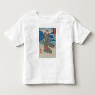 Japanese woman by the sea (colour woodblock print) toddler t-shirt