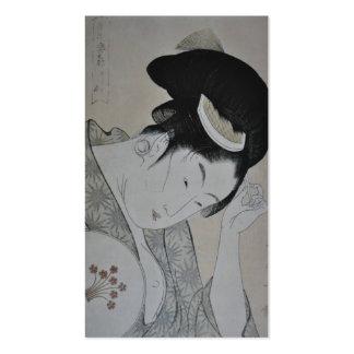 Japanese Woman Circa 1793-1794 Business Card Template