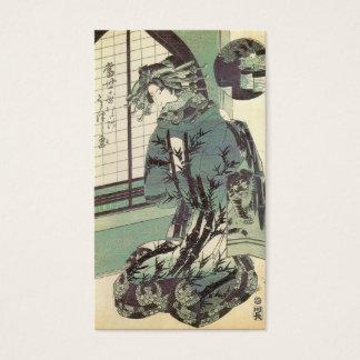 Japanese Woman in beautiful Kimono circa 1820 Business Card