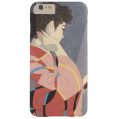 Japanese Woman In Kimono Holding A Hand Mirror Barely There Iphone 6 Plus Case at Zazzle