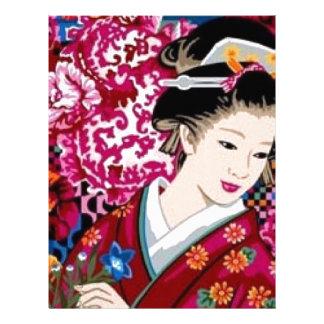 Japanese Woman in Kimono Letterhead