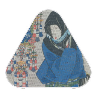 Japanese Woman in the Snow (colour woodblock print Bluetooth Speaker