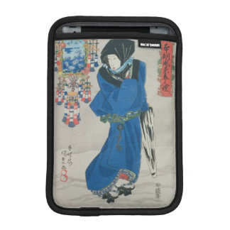 Japanese Woman in the Snow (colour woodblock print iPad Mini Sleeve