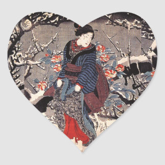 JAPANESE WOMAN in the SNOW STICKER