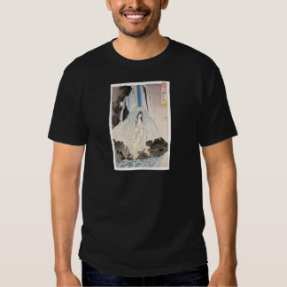 Japanese Woman in Waterfall, Ancient Japanese Art T-Shirt
