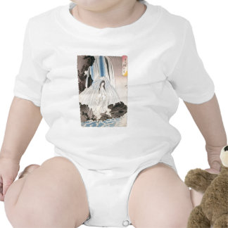 Japanese Woman in Waterfall, Ancient Japanese Art T Shirt