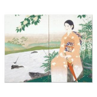japanese woman 4.25x5.5 paper invitation card