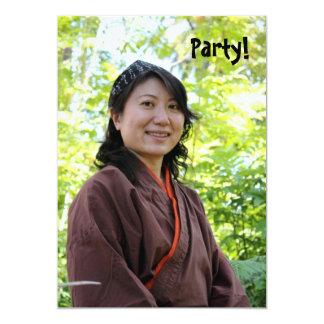 Japanese Woman 5x7 Paper Invitation Card