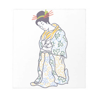 JAPANESE WOMAN LARGE OPEN NOTEPADS