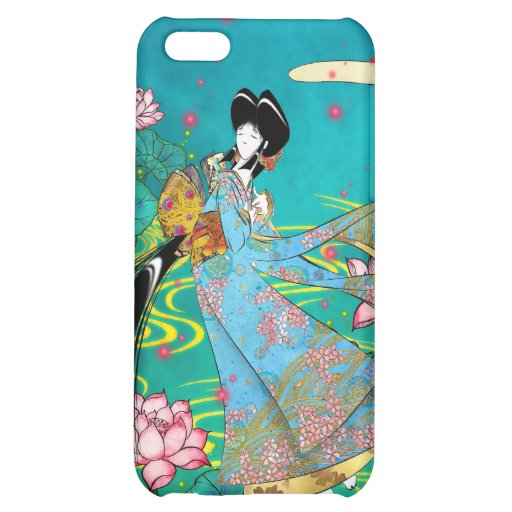 Japanese Woman - Lotus iPhone 5C Cases