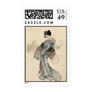 Japanese woman Postage