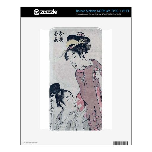 Japanese woman poster decal for NOOK