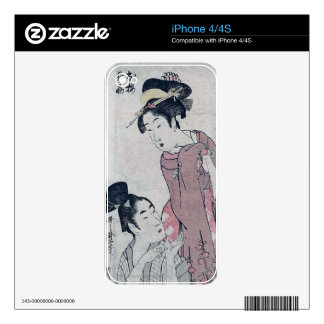 Japanese woman poster decals for iPhone 4