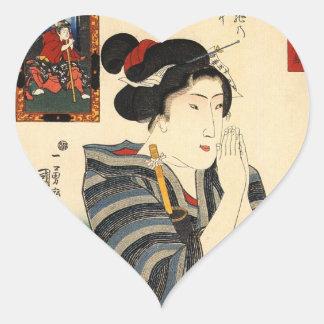 JAPANESE WOMAN PRAYING STICKER