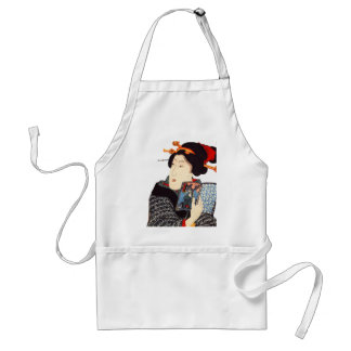 Japanese Woman Reading 2 Aprons