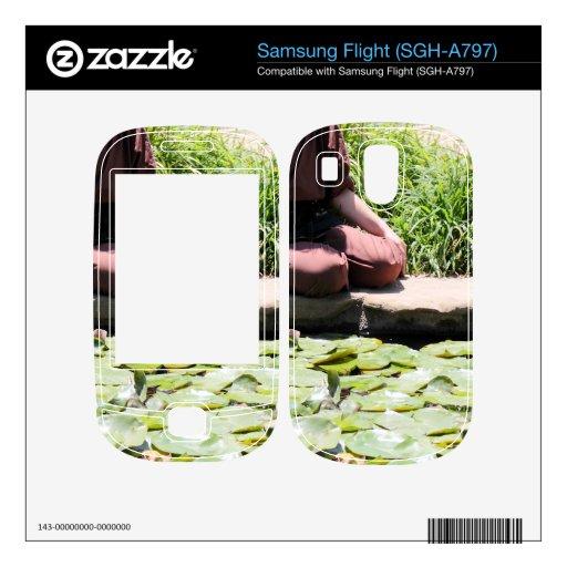 Japanese Woman Samsung Flight Decals