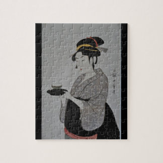Japanese Woman with Tea Puzzle