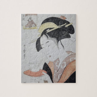 Japanese Woman with Tea Puzzles