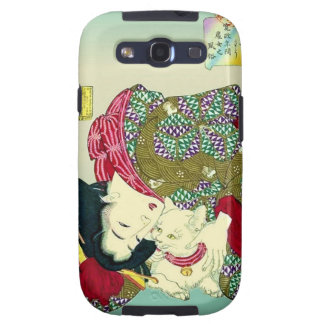 Japanese Women and Cat Galaxy S3 Case