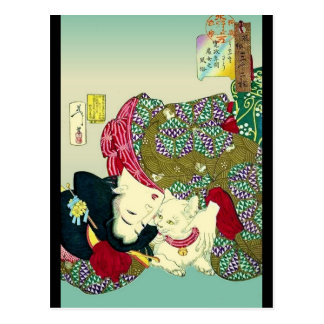 Japanese Women and Cat Postcards
