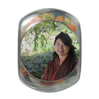 Japanese Women Glass Jar