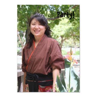 Japanese Women 5x7 Paper Invitation Card